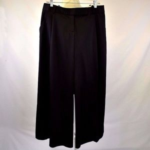 Max Studio 10 Dress Pants Wide Leg Black Leon